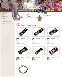 Product view page of website thaicraftland.com