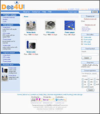 Photo of the first page of website Dee4U.com